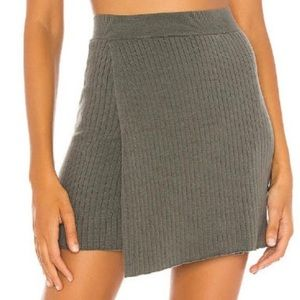 Free People faux wrap sweater skirt